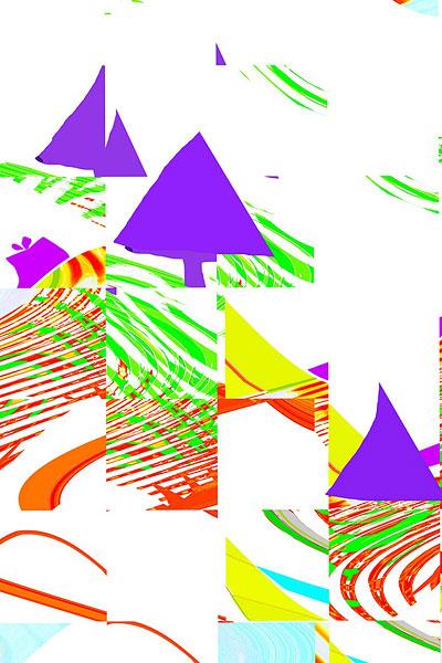 抽象拼贴画图片