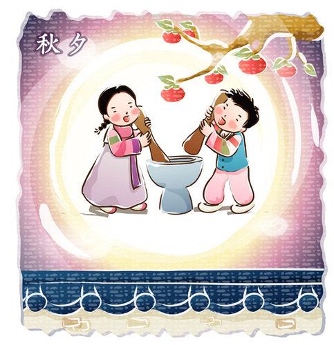 韩式卡通手绘微信头像
